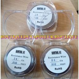 Fil KANTHAL pour coil 0,3 0,4 ou 0,5 mm 24 26 28 gauges