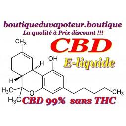 CBD e liquide pour cigarette électronique vapoteuse sans thc