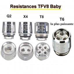 Résistance SMOK TFV8 baby à l'unité Q2 X4 T6 T8