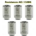 5 Résistances AIO/CUBIS boite