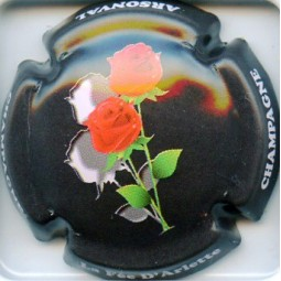 """Arlette (la fée d') """"Roses fond Noir"""""""