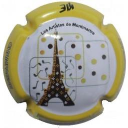 """CHAURE Jean Louis """"Les Artistes de Montmartre"""" contour Jaune"""