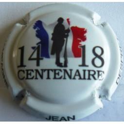 capsule de champagne commémorative DESPRET Jean centenaire 14/18