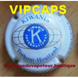 """capsule de champagne plaque de muselet Astrée Vincent """"cuvée Kiwanis"""""""