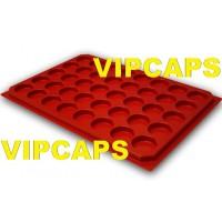 Plateaux rangement pour capsules de champagne sans couverte rouge