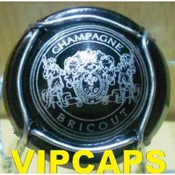 capsule de champagne BRICOUT noir écriture argent nouvelle