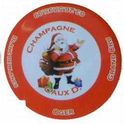 """Flan capsule de champagne Caux Dominique """"noel 2012"""" 1"""