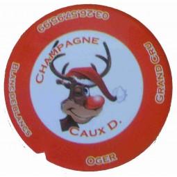 """Flan 2 capsule champagne Caux Dominique """"noel 2012"""""""