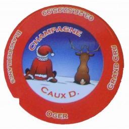 """Flan 3 capsule champagne Caux Dominique """"noel 2012"""""""