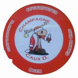 """Flan 4 capsule champagne Caux Dominique """"noel 2012"""""""