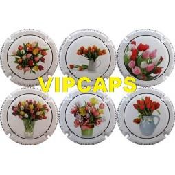 """capsule champagne COLLON """" Tulipes """" bouquet de fleurs"""