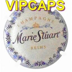 Superbe capsule de champagne STUART Marie fond blanc écriture bleu/violet