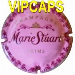 belle capsule de champagne STUART Marie fond rose bonbon écriture rouge