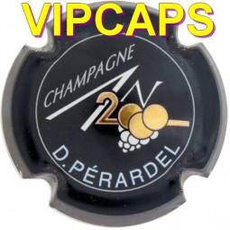 plaque de muselet PERARDEL An 2000 noir capsule de champagne
