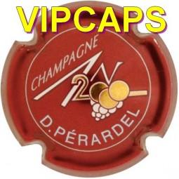 Plaque de muselet PERARDEL An 2000 bordeaux capsule de champagne