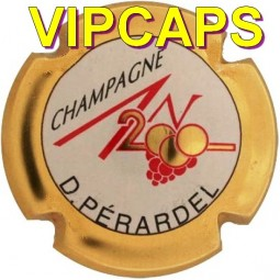 Plaque de muselet capsule champagne An 2000 PERARDEL contour Or