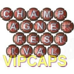 Capsules champagne multi vignerons FESTIVAL 2011