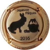 capsule champagne ROGIER Pâques 2016 Plaqué OR