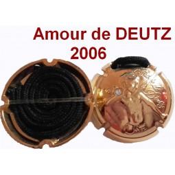 AMOUR DE DEUTZ 2006 Capsule champagne collier bijoux strass