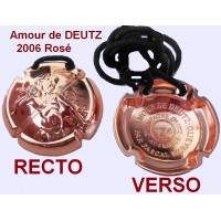 AMOUR DE DEUTZ 2006 Rosé Capsule champagne Rosé collier bijoux or rose strass