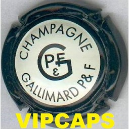 CAPSULE CHAMPAGNE GALLIMARD pére & fils contour noir fond crême