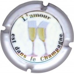 """Générique capsule champagne 795 b """"l'Amour est dans le champagne"""""""