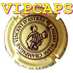 capsule de Champagne ASTREE (Vincent d') Crème écriture marron N°7