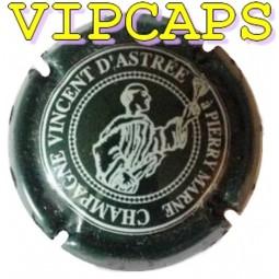 Capsule de champagne ASTREE (Vincent d') Vert écriture blanche N°1