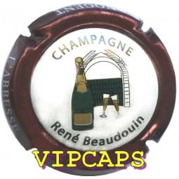 CAPSULE CHAMPAGNE BEAUDOUIN René Bordeaux métal (ref 21?)
