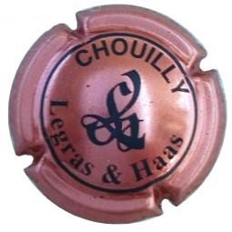 capsule Champagne LEGRAS & HAAS Rosé écriture grise