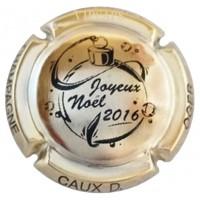 Capsule champagne CAUX Dominique Noël 2016 plaqué OR