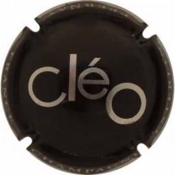 Capsule de champagne ESTERLIN cuvée CLEO Noir écriture métal (chrome)
