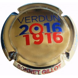 Capsule Champagne plaquée Or Sonnet Gillot Verdun 1916-2016 or/bleu/rouge