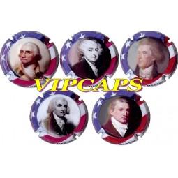 Série capsules de champagne MICHEL MARTIN LES PRÉSIDENTS USA (Américains) série 1