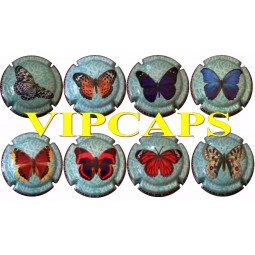 DUGNE Charles série Papillons