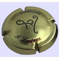 Capsule de champagne rare FORTUNE Guy OR écriture noire