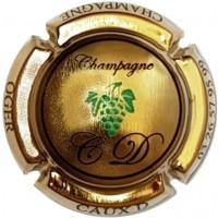 capsule de champagne CAUX Dominique grappe écriture noir plaquée OR vipcaps