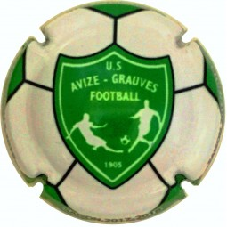 capsule champagne commémorative Avize-Grauves US Football club 2017-2018