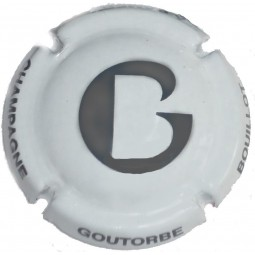 Capsules de champagne GOUTORBE blanche G écriture grise