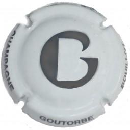 GOUTORBE blanche G écriture grise