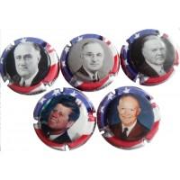 capsules de champagne MICHEL MARTIN LES PRÉSIDENTS USA (Américains) série 7