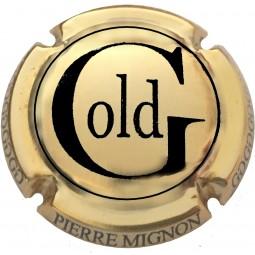 capsule champagne MIGNON pierre Cuvée Gold Plaqué OR/noir G