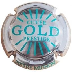 capsule champagne MIGNON pierre Cuvée Gold prestige Plaqué OR/vert G