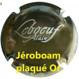 """capsule de champagne de Jéroboam LEBOEUF plaqué Or """"trés rare"""""""