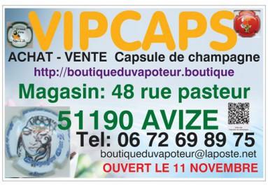 Achat vente de capsule de champagne VIPCAPS le 11 novembre Avize Vertus