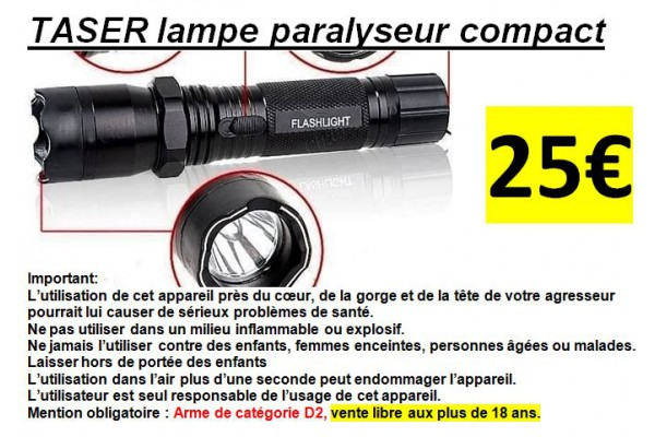 Auto défence TASER Shocker lampe